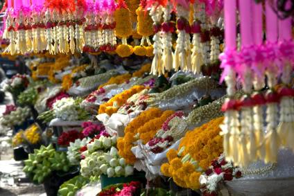 Chiang Mai flower market.